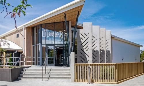 7220-01-Pinehurst School Library_Main Entry - North West