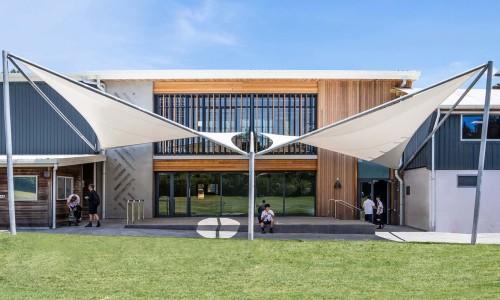 7220-06-Pinehurst School Library_View From Field - East